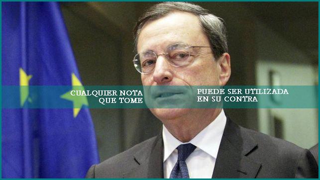 draghi banco central europeo comparecencia a puerta cerrada