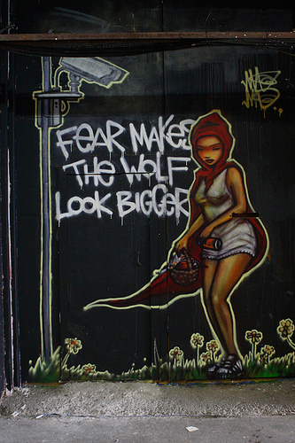 política del miedo lobo tamaño