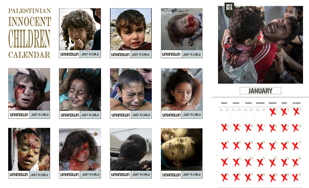palestinian innocent children calendar